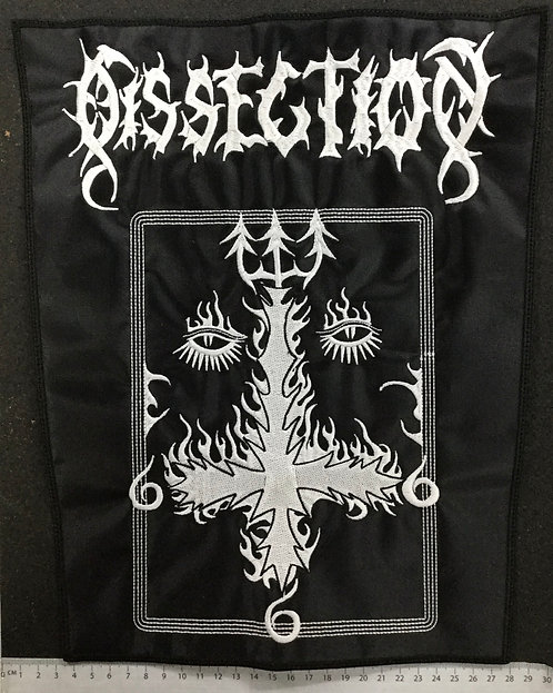 DISSECTION - CROSS EMBROIDERED BACK PATCH