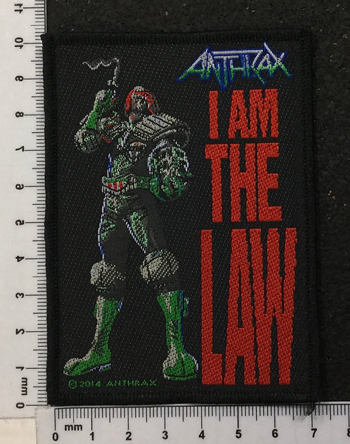 ANTHRAX - I AM THE LAW WOVEN PATCH
