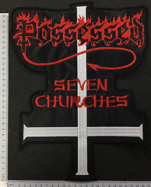 POSSESSED - SEVEN CHURCHES EMBROIDERED BACK PATCH