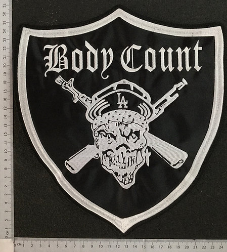 BODY COUNT - SHIELD EMBROIDERED BACK PATCH