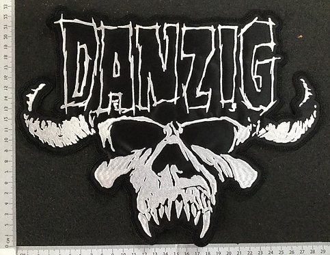 DANZIG - SKULL+LOGO EMBROIDERED BACK PATCH