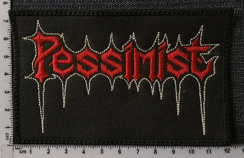 PESSIMIST - LOGO EMBROIDERED PATCH