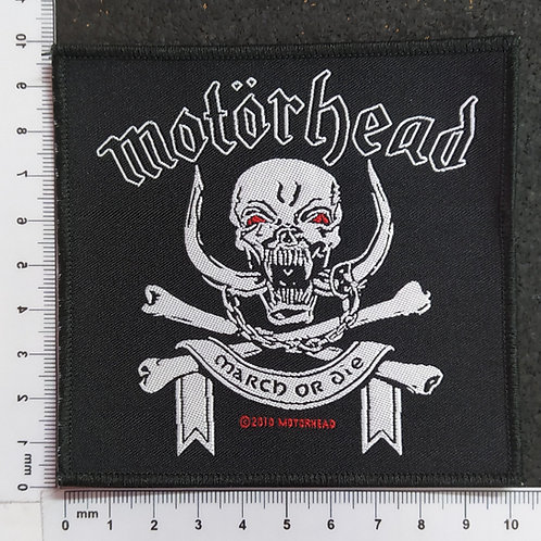 MOTORHEAD - MARCH OR DIE WOVEN PATCH
