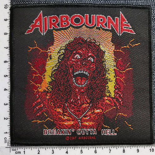 AIRBOURNE - Breakin ' Gotta Hell Woven Patch