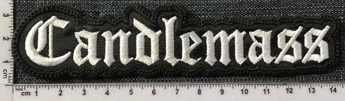 CANDLEMASS - LOGO SHAPED EMBROIDERED PATCH