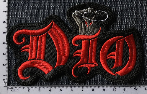 DIO - SHAPED EMBROIDERED PATCH
