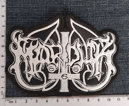 MARDUK - SHAPED LOGO EMBROIDERED PATCH