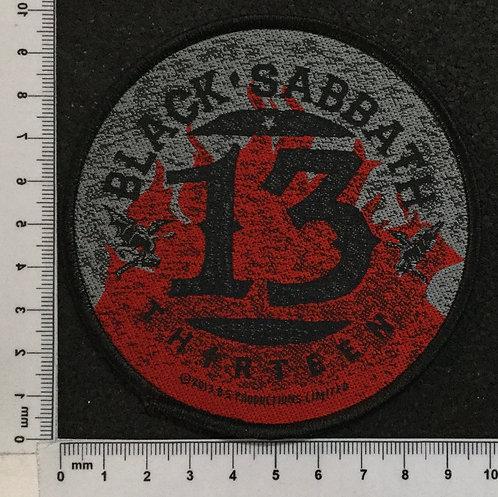 BLACK SABBATH -THIRTEEN WOVEN PATCH