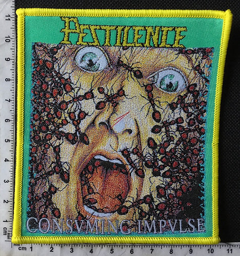 PESTILENCE - CONSVMING IMPVLSE WOVEN PATCH
