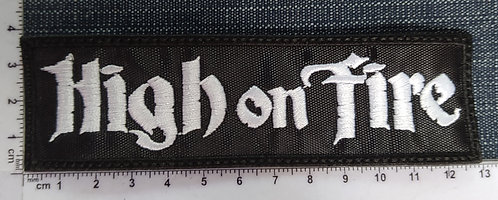 HIGH ON FIRE - LARGE LOGO EMBROIDERED PATCH