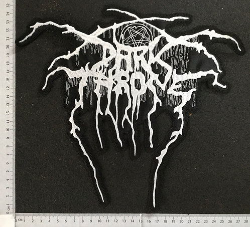 DARK THRONE - LOGO EMBROIDERED BACK PATCH