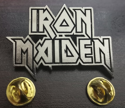 IRON MAIDEN - LOGO METAL PIN