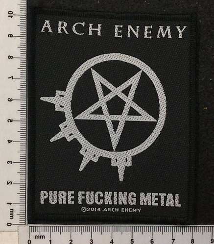 ARCH ENEMY - PURE FUCKING METAL WOVEN PATCH