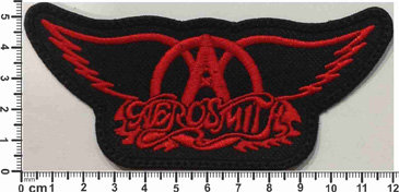AEROSMITH  - LOGO WINGS RED EMBROIDERED PATCH