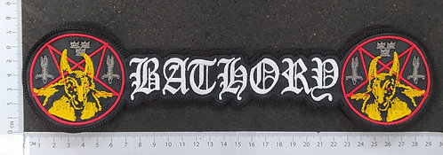 BATHORY - SHAPED EMBROIDERED BACK PATCH
