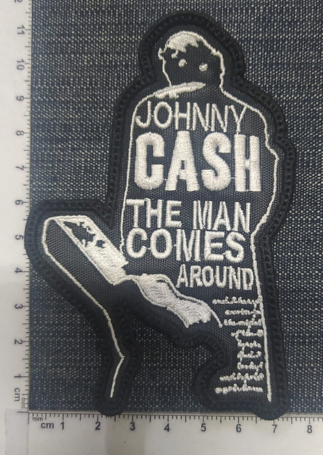 JOHNNY CASH - THE MAN COMES... EMBROIDERED PATCH