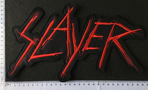 SLAYER - LOGO RED EMBROIDERED BACK PATCH