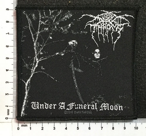 DARK THRONE - UNDER A FUNERAL MOON WOVEN PATCH