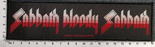 BLACK SABBATH - Sabbath Bloody Sabbath strip Woven Patch