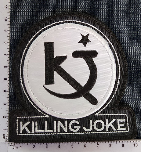 KILLING JOKE - LOGO LARGE EMBROIDERED PATCH