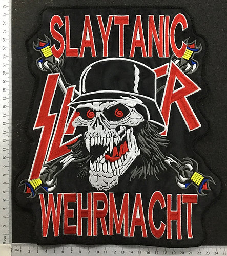 SLAYER - SLAYTANIC EMBROIDERED PATCH