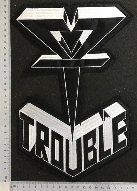 TROUBLE - SYMBOL EMBROIDERED BACK PATCH