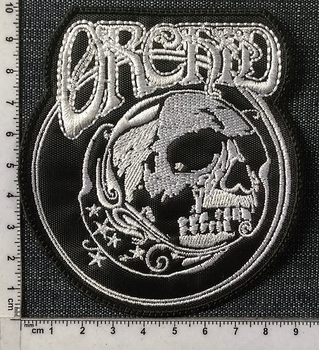 ORCHID - SKULL EMBROIDERED PATCH