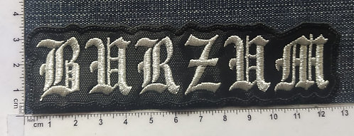 BURZUM - SHAPED LOGO EMBROIDERED PATCH