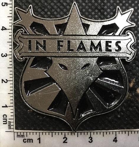 IN FLAMES - SHIELD METAL PIN