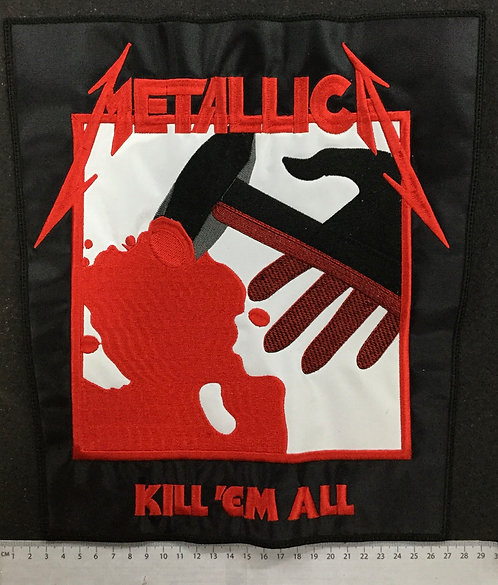 METALLICA - KILL 'EM ALL EMBROIDERED BACK PATCH