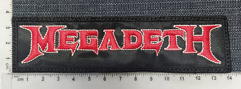 MEGADETH - LARGE LOGO EMBROIDERED PATCH