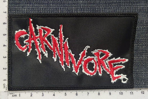 CARNIVORE - RECTANGLE LOGO EMBROIDERED PATCH