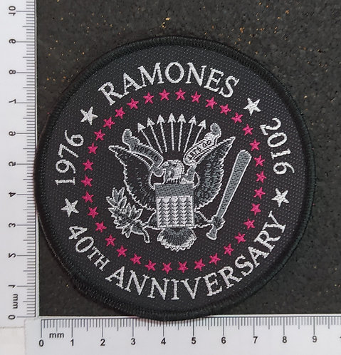 RAMONES - CIRCLE ANNIVERSARY WOVEN PATCH