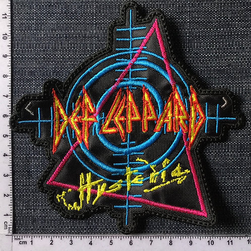 DEF LEPPARD - HYSTERIA SHAPED EMBROIDERED PATCH