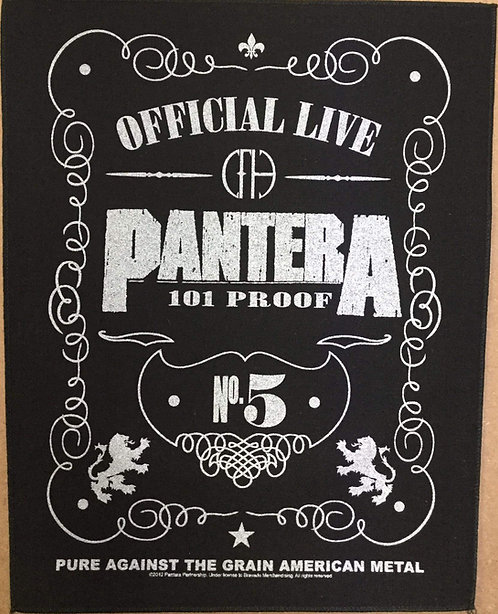 PANTERA - Official Live 101 proof Back Patch