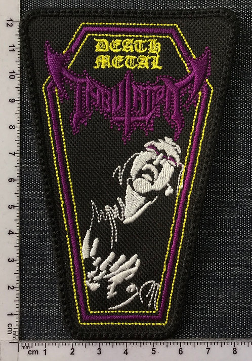 TRIBULATION - DEATH METAL COFFIN EMBROIDERED PATCH