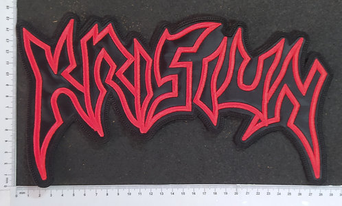 KRISIUM - LOGO EMBROIDERED BACKPATCH