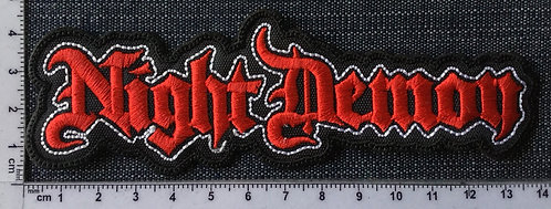 NIGHT DEMON - SHAPED LOGO EMBROIDERED PATCH