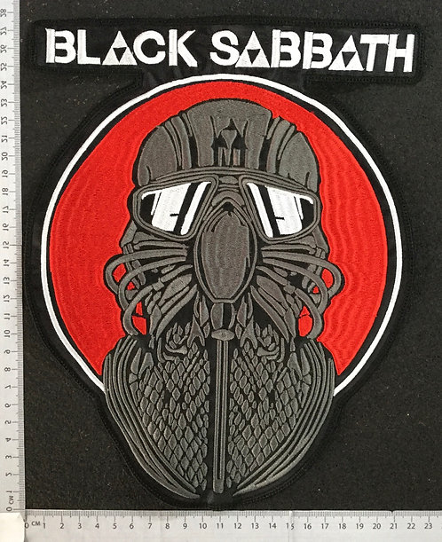 BLACK SABBATH - MASK EMBROIDERED BACK PATCH