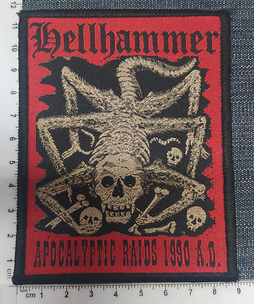 HELLHAMMER - APOCALYPTIC RAIDS 1990 WOVEN PATCH