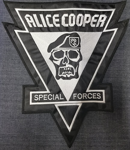 ALICE COOPER - Special Forces EMBROIDERED BACK PATCH