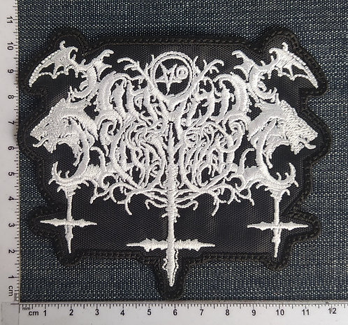 SATANIC WARMASTER - SHAPE EMBROIDERED PATCH