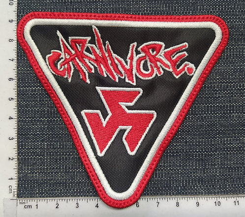 CARNIVORE - TRIANGLE EMBROIDERED PATCH