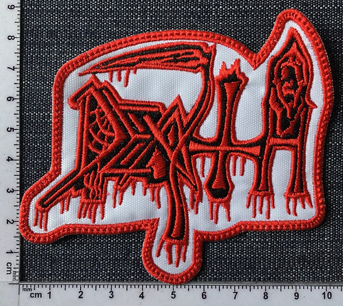 DEATH - BLOOD LOGO EMBROIDERED PATCH
