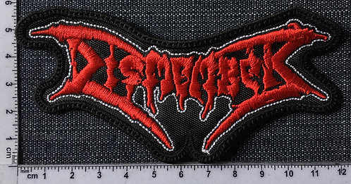 DISMEMBER - LOGO SHAPED EMBROIDERED PATCH