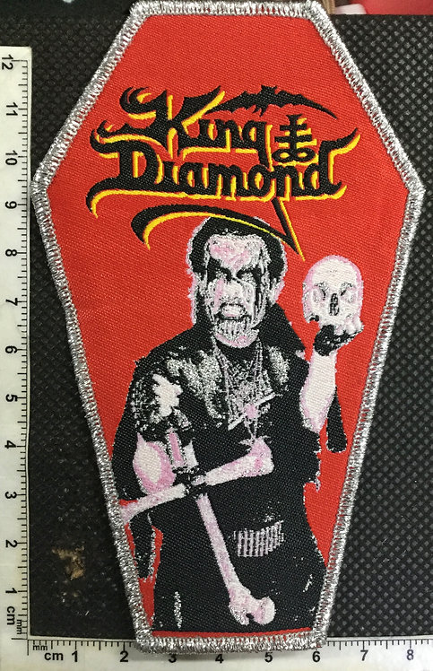 KING DIAMOND - CONSPIRACY COFFIN WOVEN PATCH