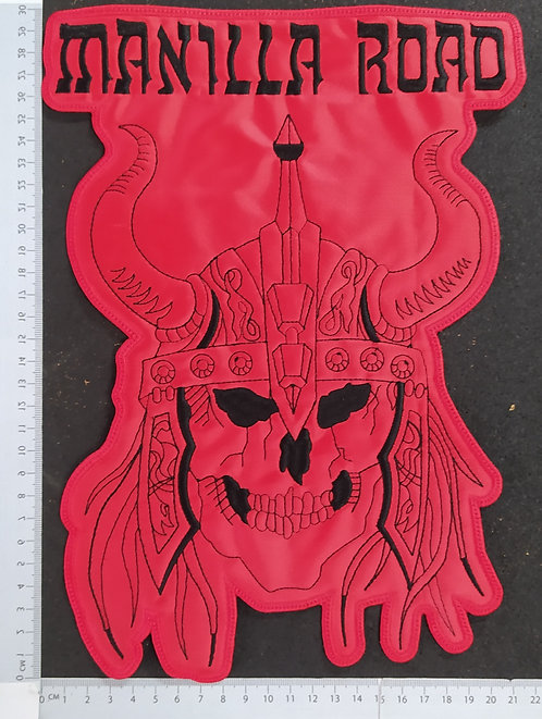 MANILLA ROAD  - HEAD EMBROIDERED BACK PATCH