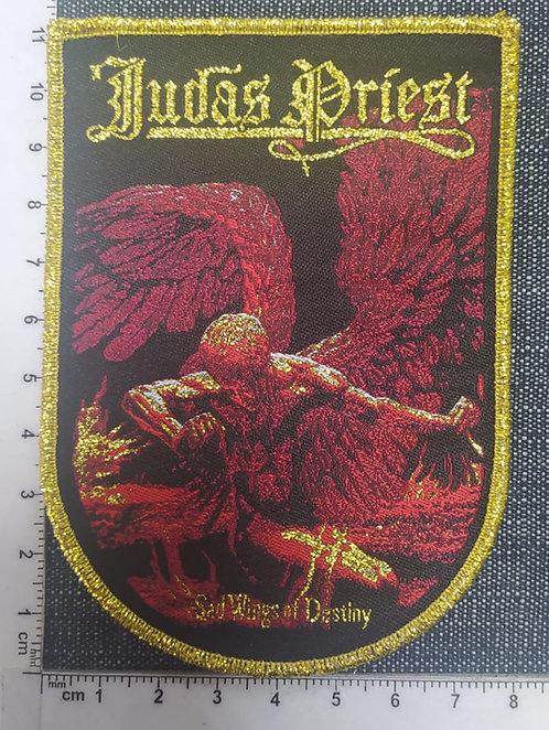 JUDAS PRIEST - SAD WINGS OF DESTINY ARC SHAPED WOVEN PATCH
