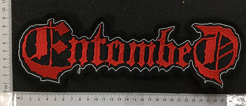 ENTOMBED -  LOGO EMBROIDERED BACK PATCH