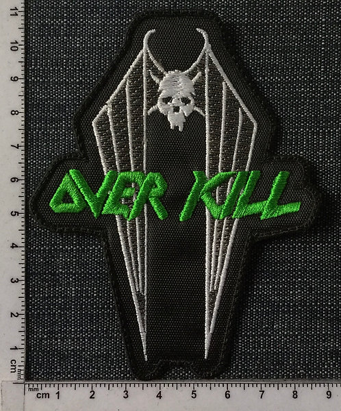 OVER KILL - COFFIN EMBROIDERED PATCH